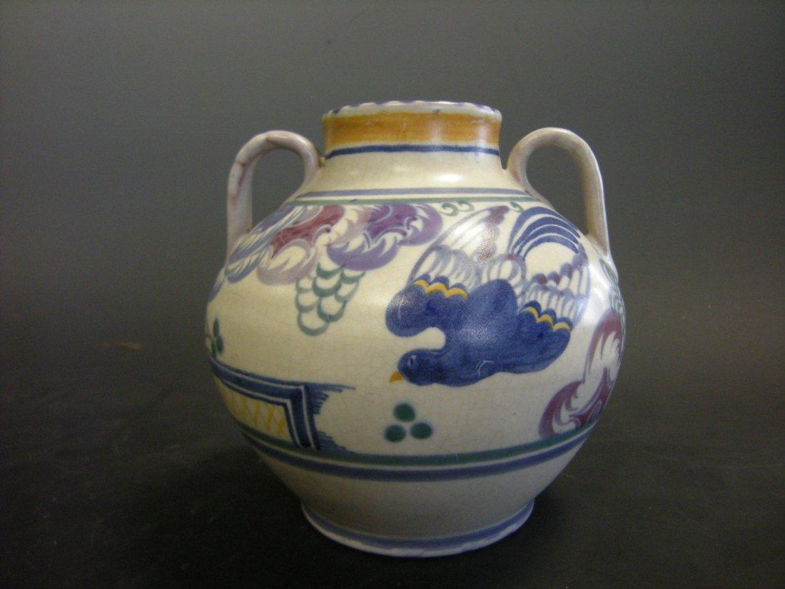 A Carter, Stabler, Adams Poole Pottery twin handled Blu