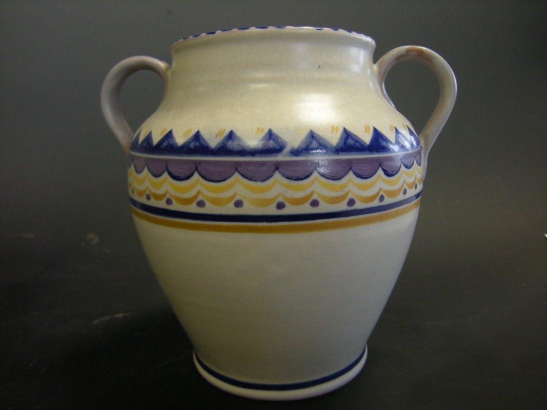A Carter, Stabler, Adams Poole Pottery twin handled vas