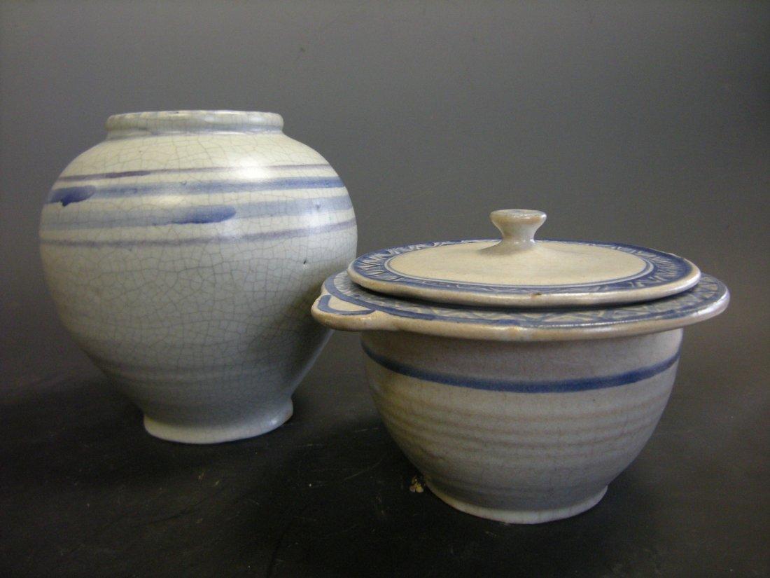 An early Carter tin glazed vase, circa 1915-20,