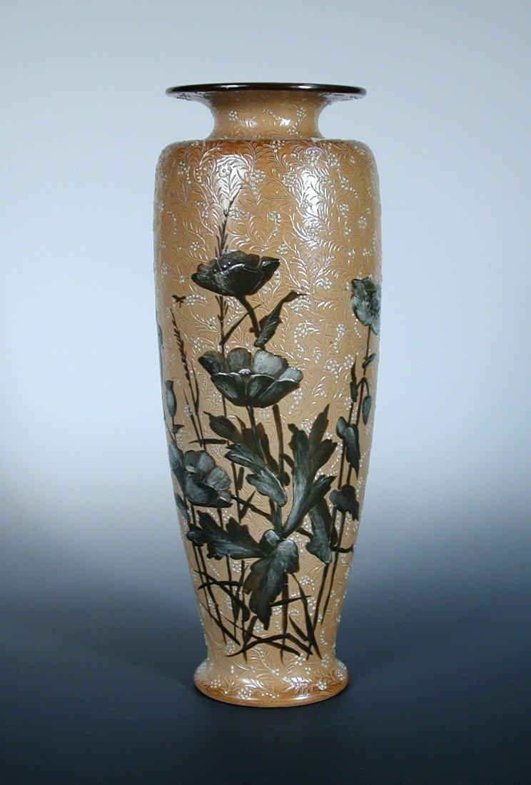 A large Doulton Lambeth stoneware vase by Florence Barl