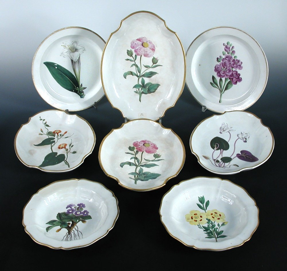 A collection of early 19th century Swansea cream ware