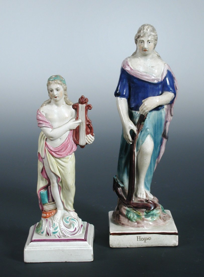 Two late 18th century Ralph or John Wood figures and a