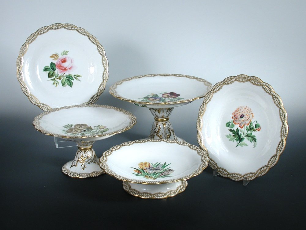 A Minton dessert service, date codes for 1856/7,