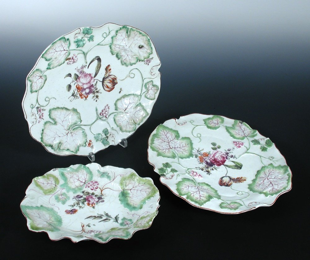 Three mid 18th century Derby dishes,