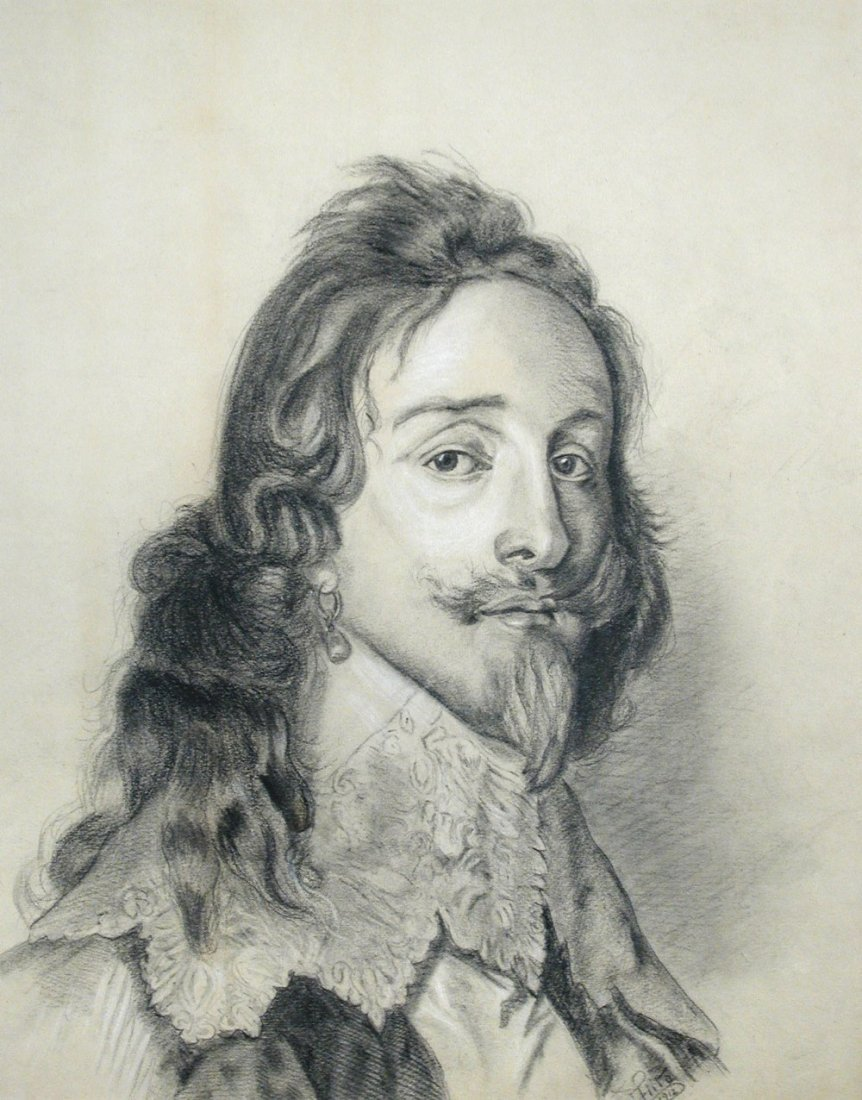Fritz - Portrait of Charles I signed lower right