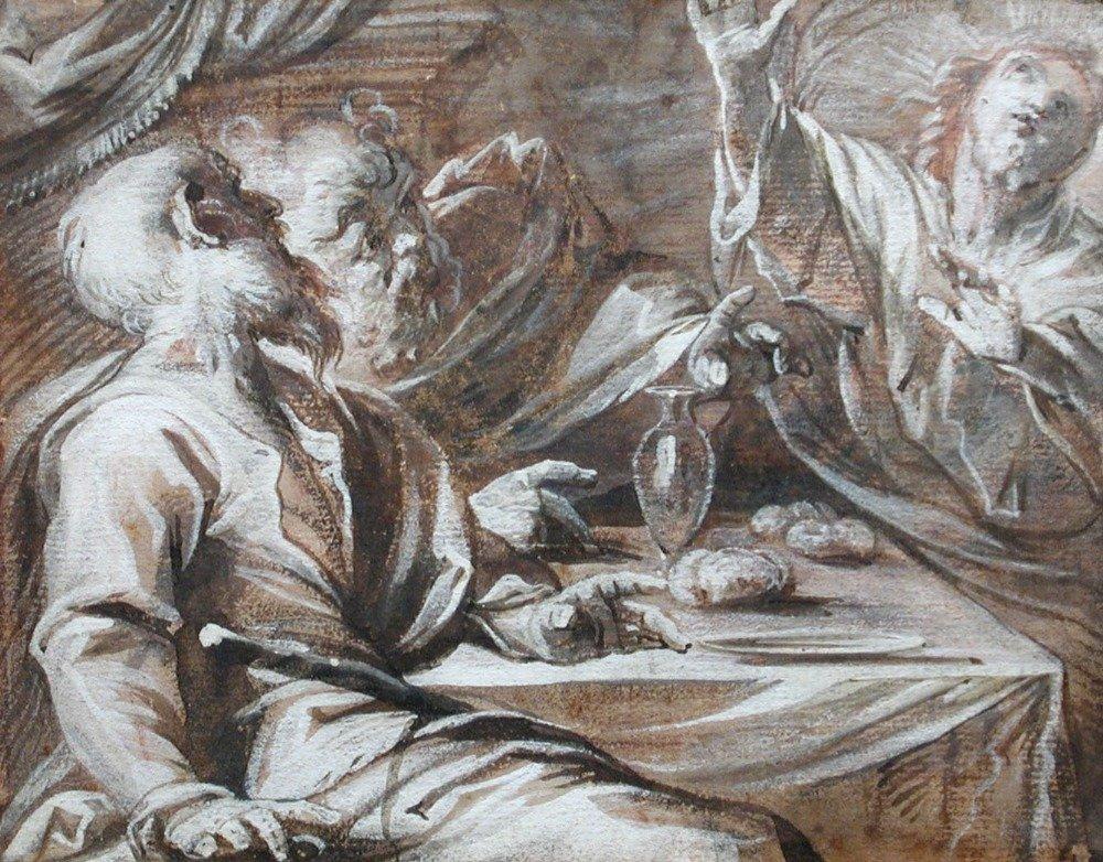 Sigismondo Caula (Italian, 1637-1724)  - The Supper at