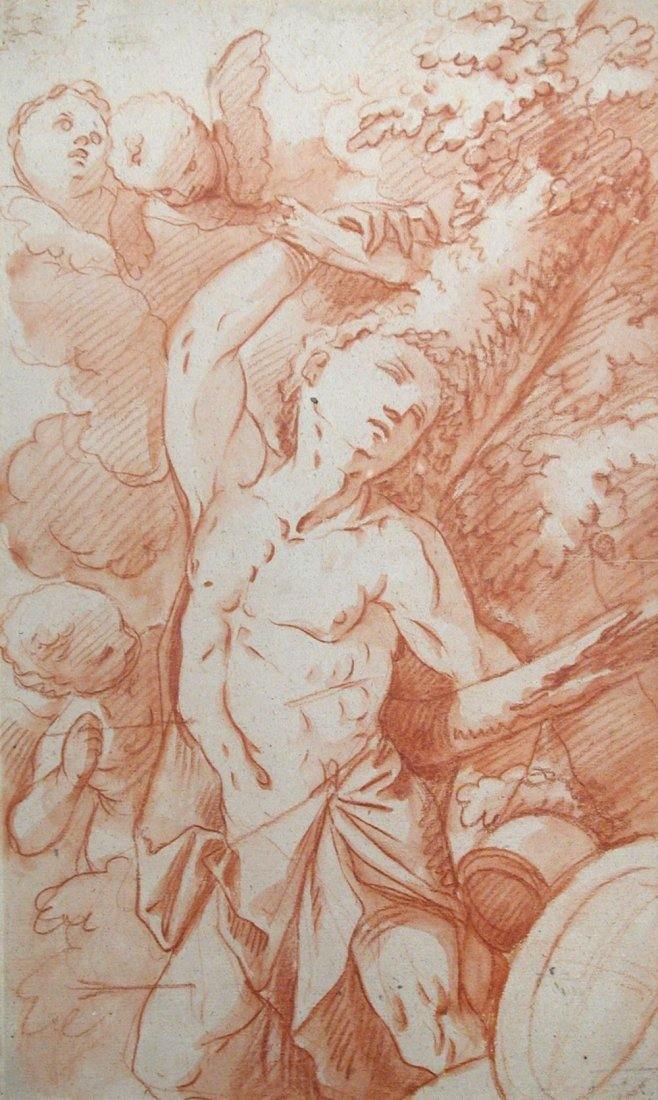 Flemish School (18th Century) - A Putto holding a Torch