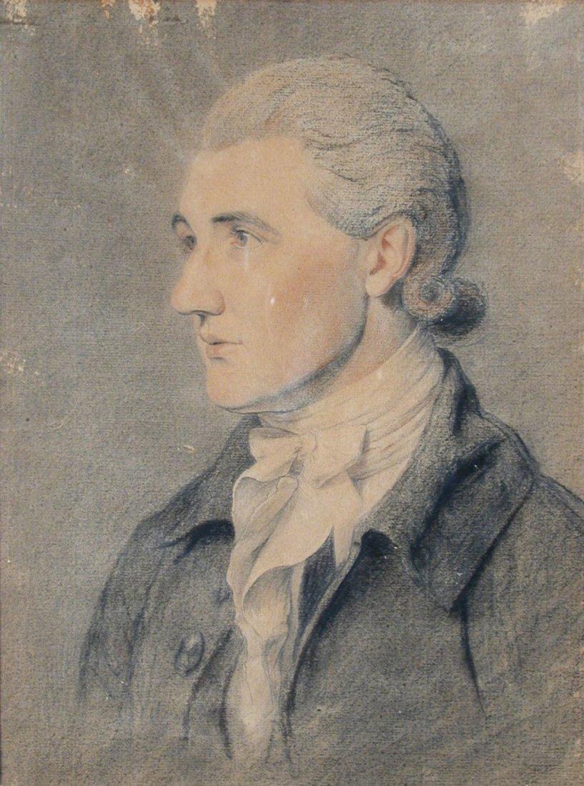 English School (18th Century) - Portrait of Mr Boycott,