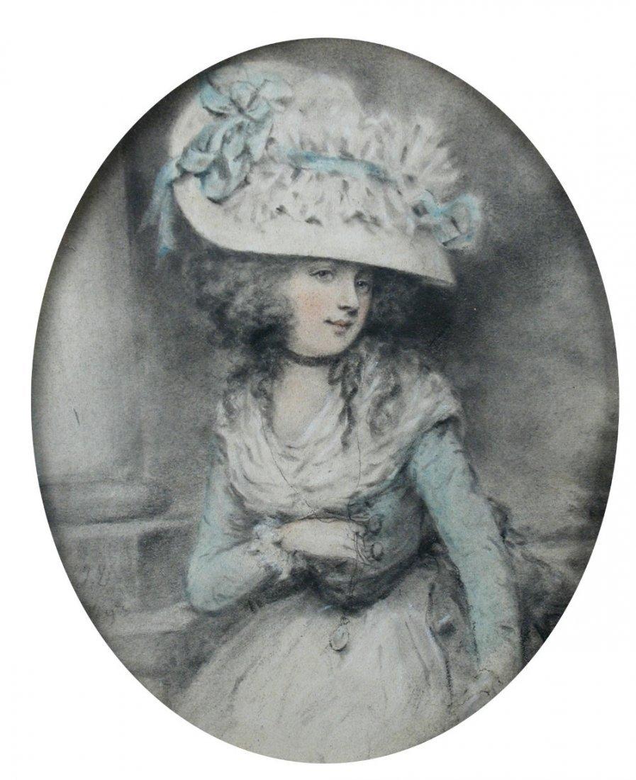 John Downman (British, 1750-1824) - Portrait of a Lady