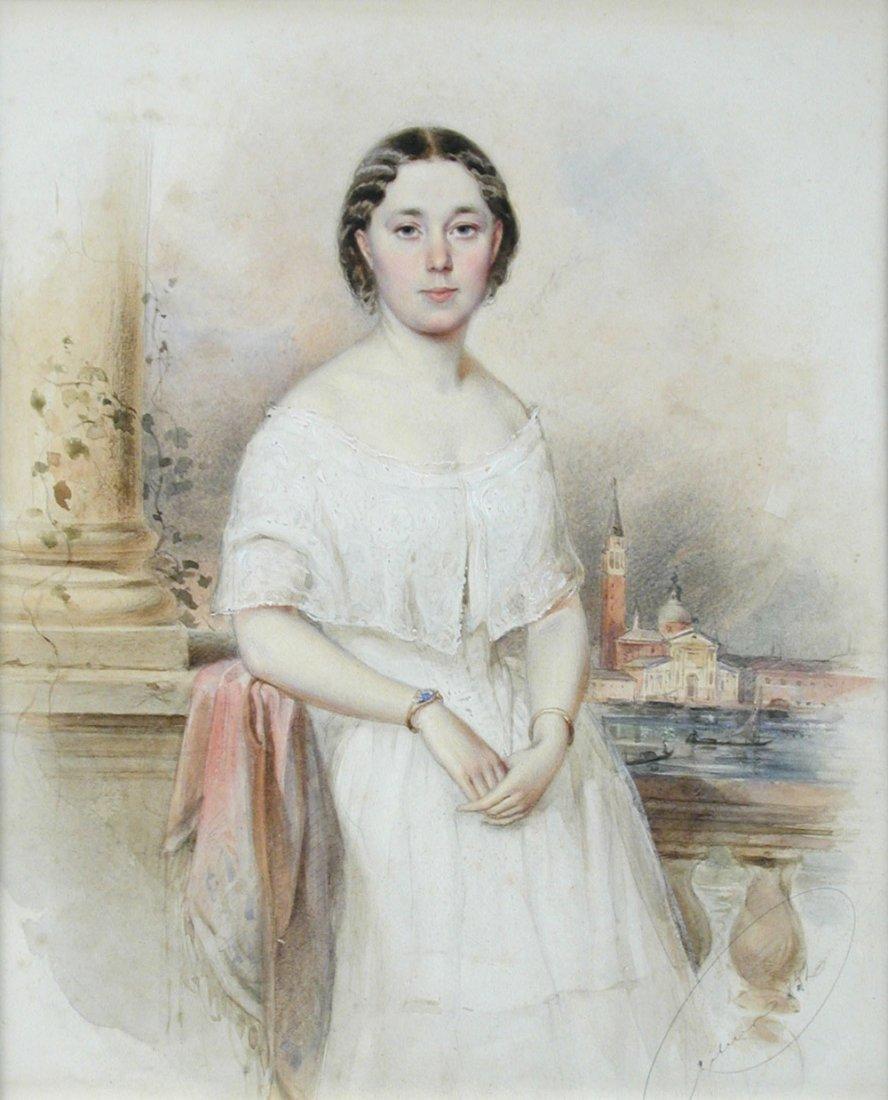 Franz Pitner (Austrian, 1826-1892) - Portrait of a