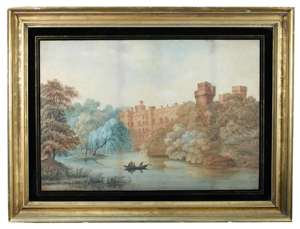 English School (18th-19th Century) - A View of Warwick