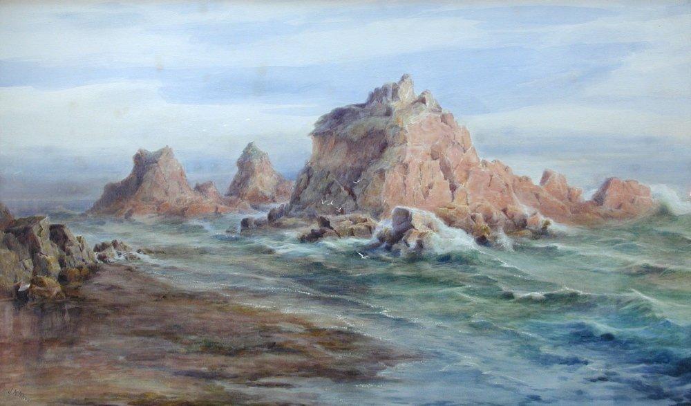 Jessie M Hilsom (British, exh. 1898-1900) - Rocks off