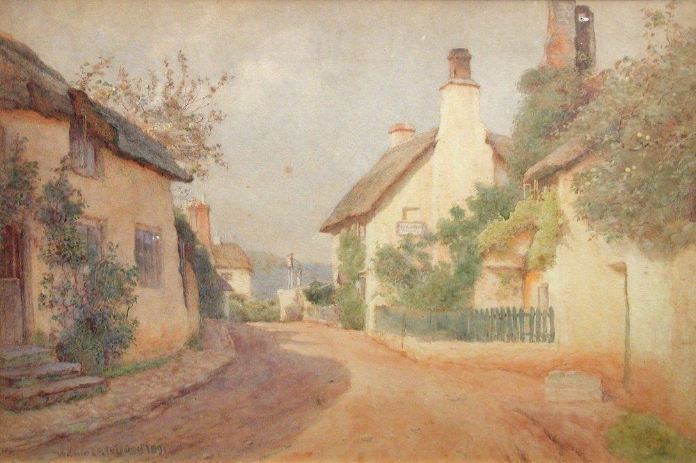 Wilmot Pilsbury, RWS (British, 1840-1908)  - Porlock,