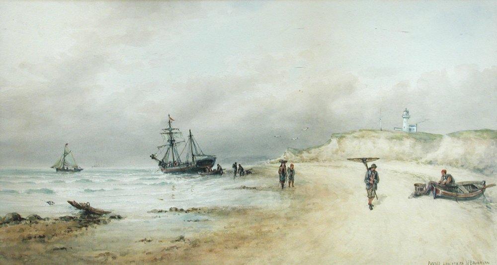 John F Branegan (British, fl.1871-1875) - Fishermen at