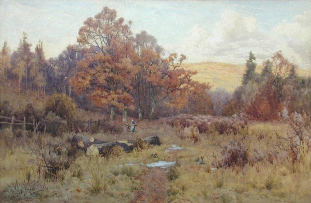 George Vicat Cole, RA (1833-1893) - Autumn Landscape-