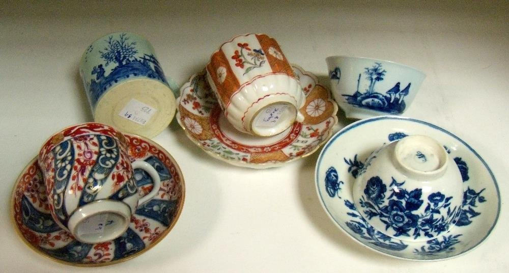 A collection of 18th century tea and coffee wares,