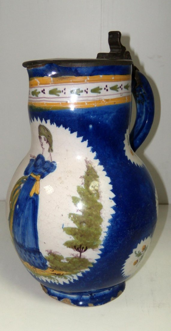 A late 18th/early 19th French faience jug,