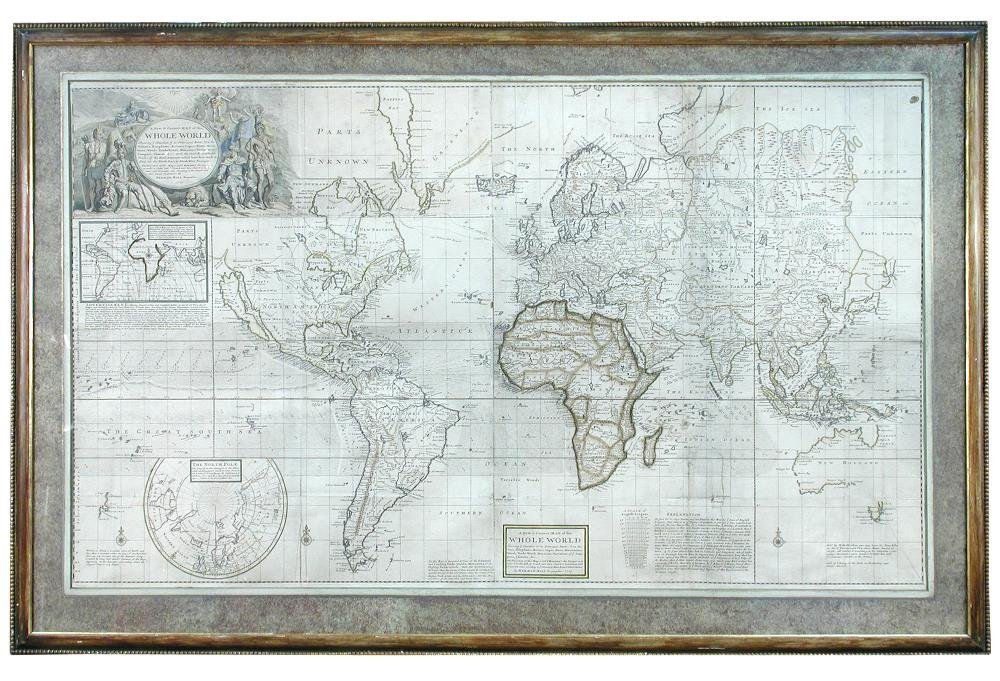 Herman Moll (1654-1732) - A New and correct map of the