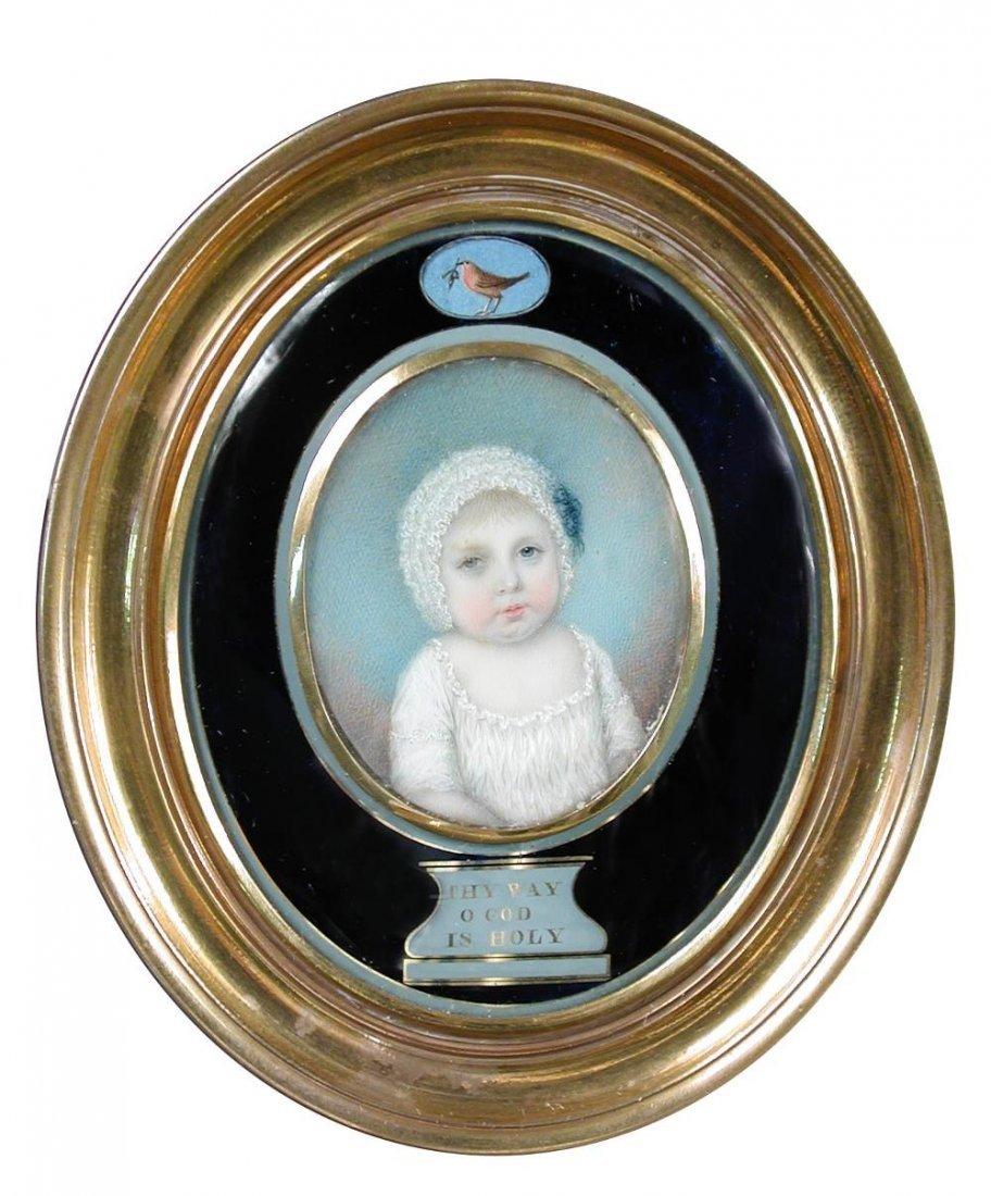 Irish School (18th Century) - A Portrait miniature of