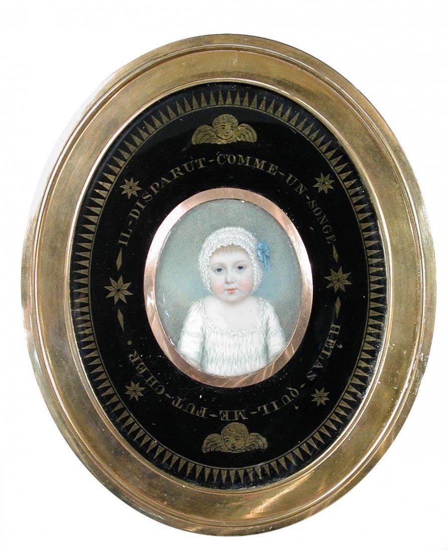 Irish School (18th Century) Portrait miniature of Lord
