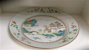 An 18th century famille rose charger,