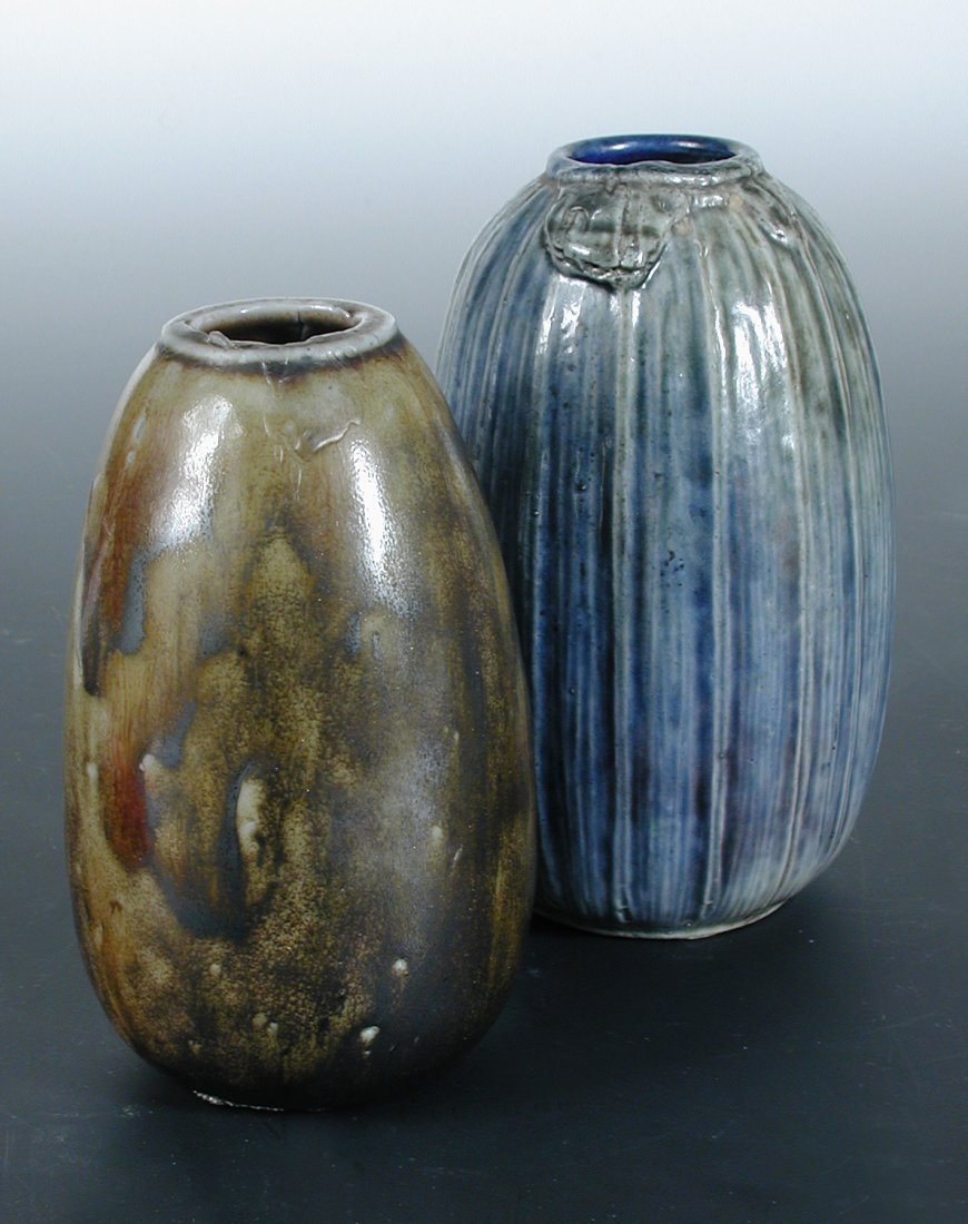 A Martin Brothers stoneware gourd vase,