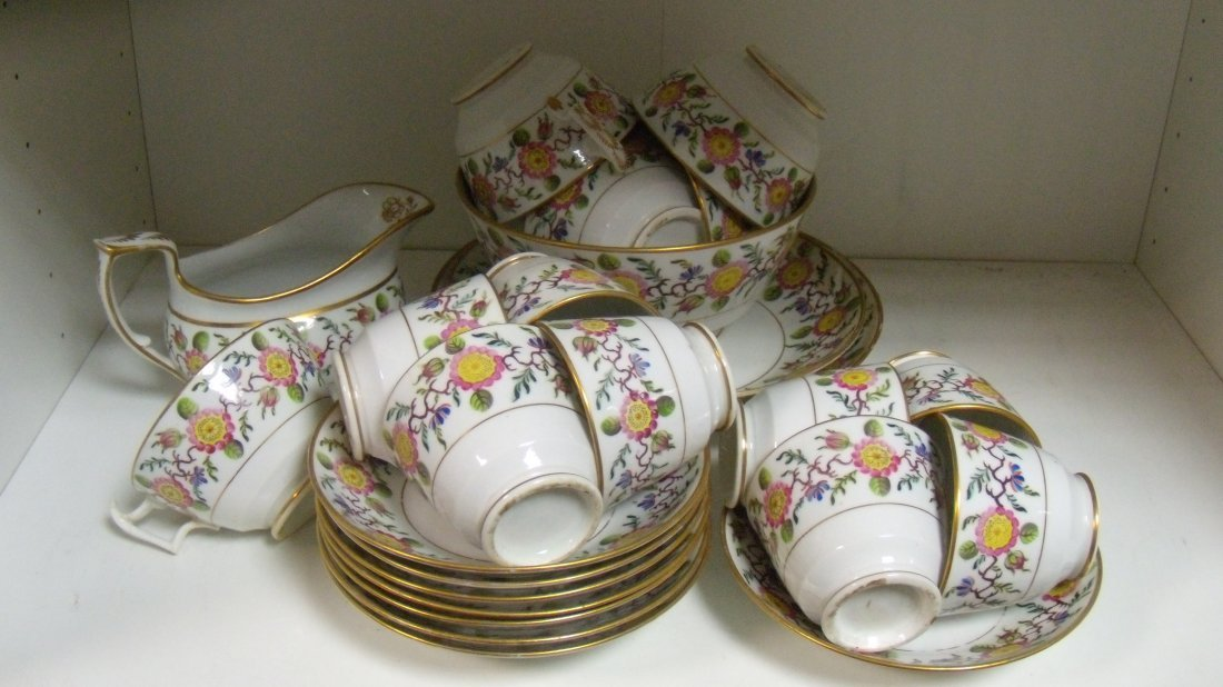 A New Hall part tea and coffee set,