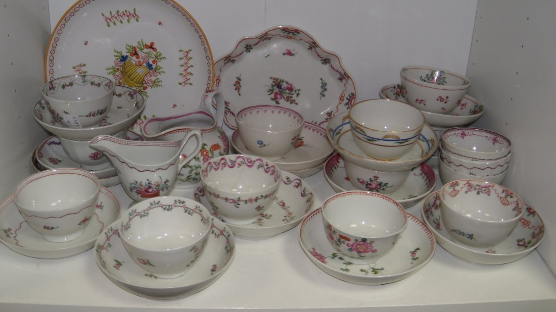 A collection of New Hall tea wares,