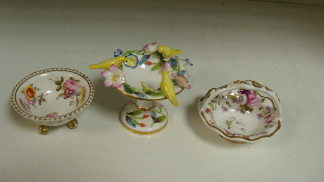 An early 19th century Spode and two other miniature