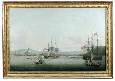 John Thomas Serres (British, 1759-1825) - Shipping off