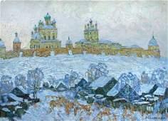 Ivan Komissarov - Winter, Russia - signed lower right