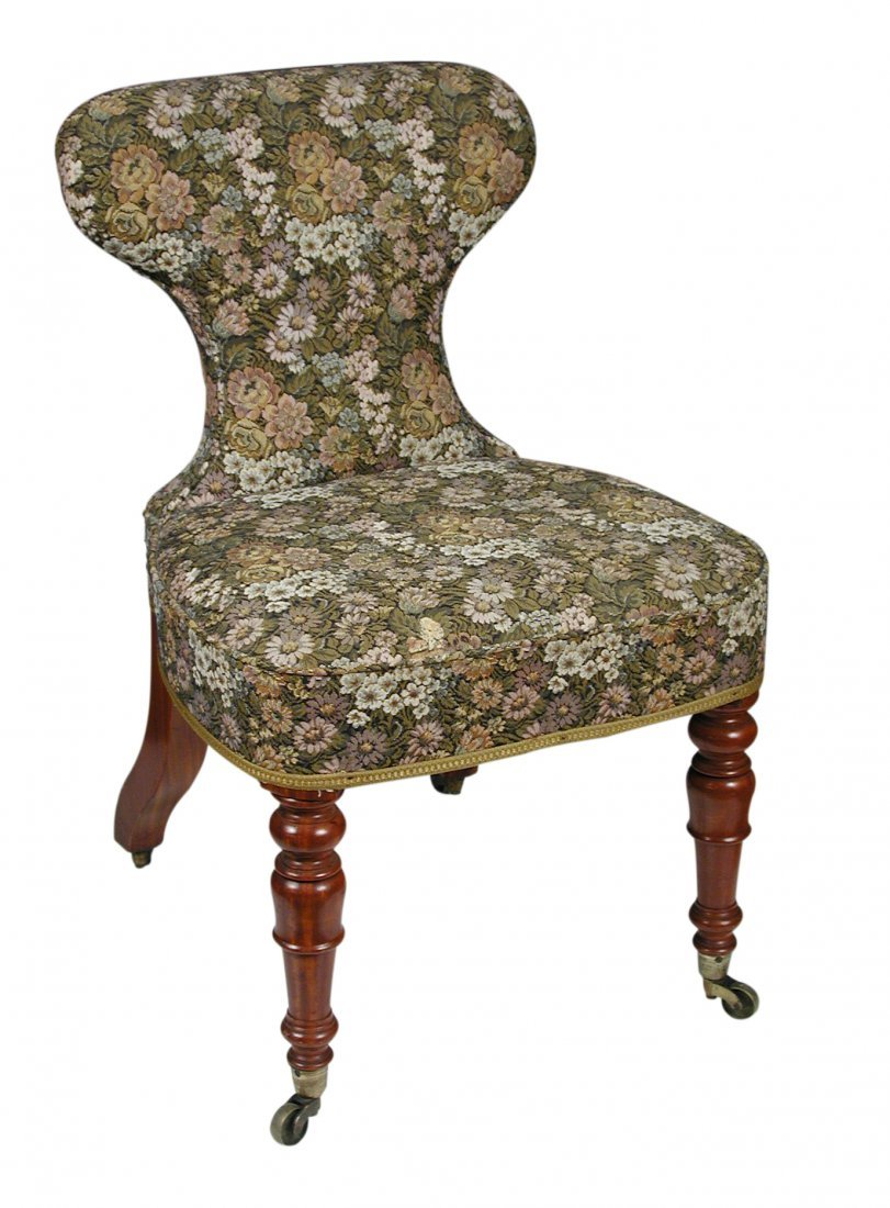 A 19th century mahogany framed conversation chair,