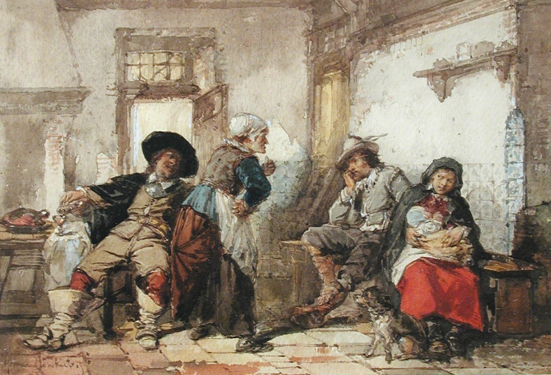 Herman Frederik Carel ten Kate (Dutch, 1822-1891) Boors