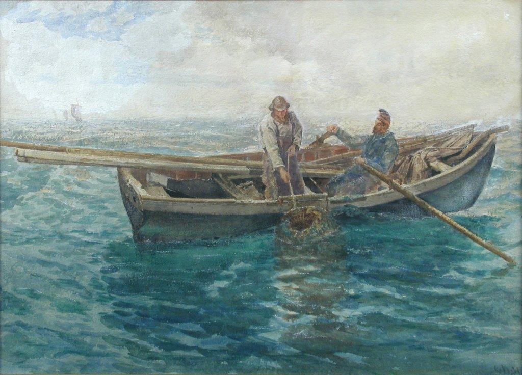 Charles Napier Hemy (British, 1841-1917) Gathering