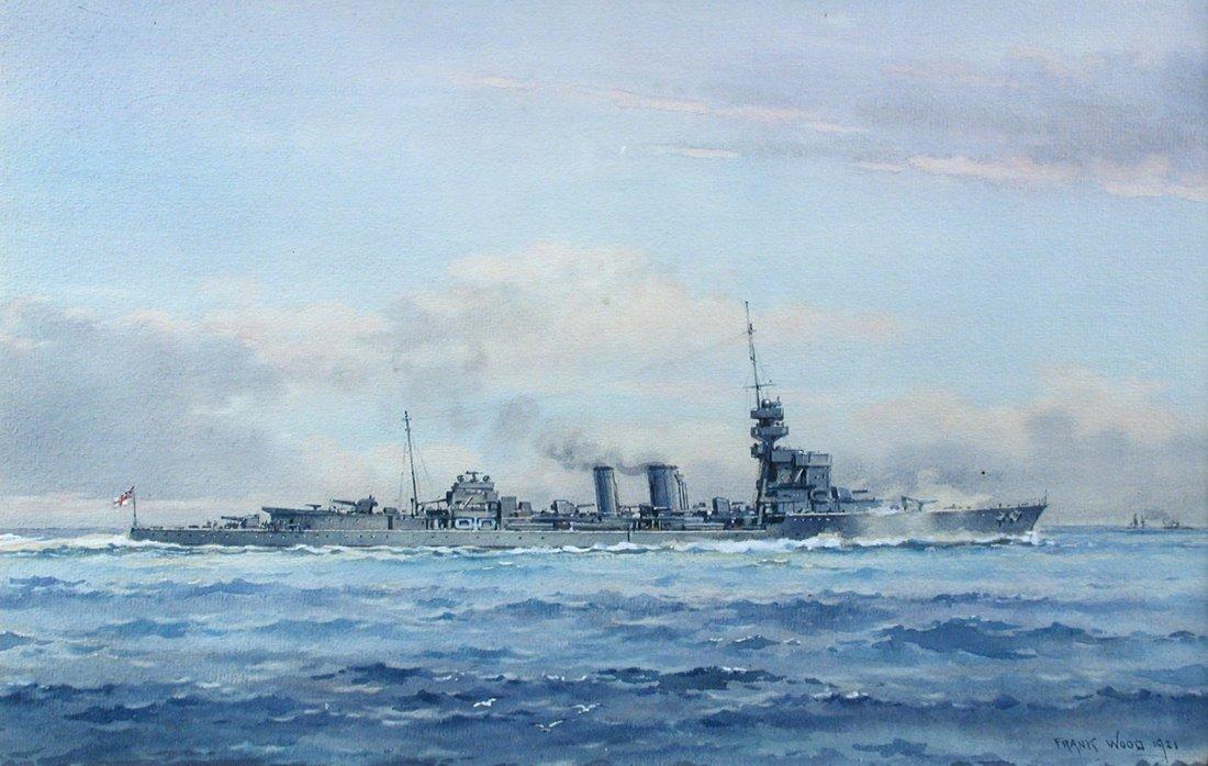 § Frank Watson Wood (British, 1862-1953) HMS Dauntless