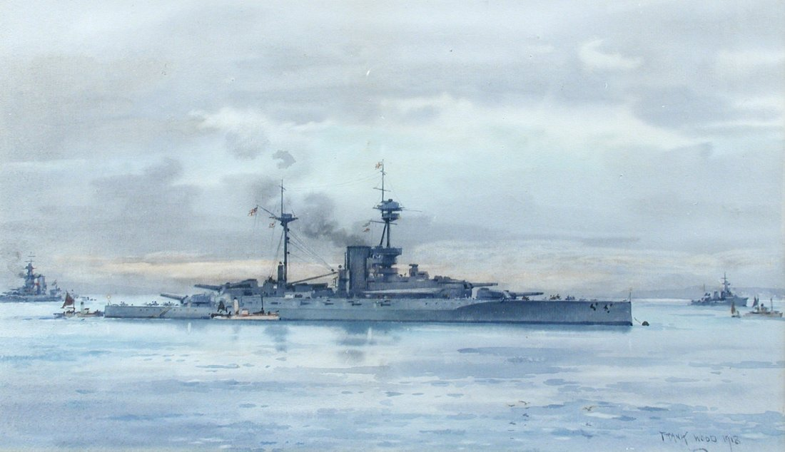§ Frank Watson Wood (British, 1862-1953) HMS Revenge