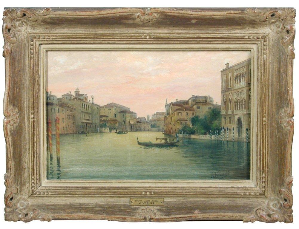 A Verutti (Italian, 19th Century) The Grand Canal,