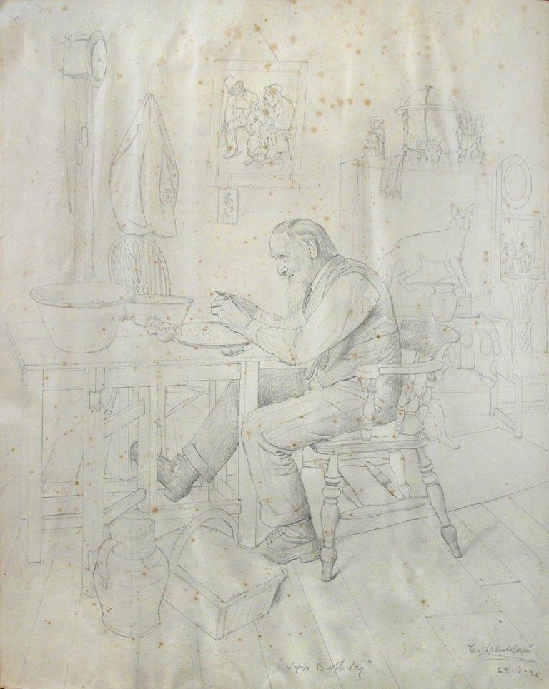 § Charles Spencelayh (British, 1865-1958) His Birthday