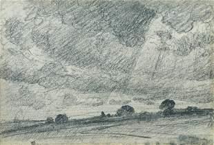 John Constable, RA (British, 1776-1837) Storm Clouds c.