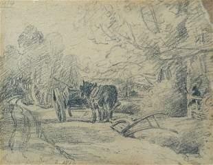 John Constable, RA (British, 1776-1837) Heavy Horse at