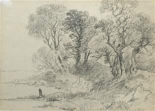 John Constable, RA (British, 1776-1837) Study of Trees
