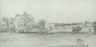 John Constable, RA (British, 1776-1837) River meadows