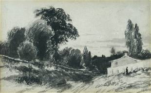 John Constable, RA (British, 1776-1837) Cottage with a