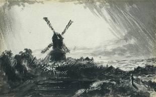 John Constable, RA (British, 1776-1837) Windmill with