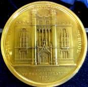 A City of London School 1834 gold medallion,