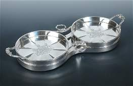 Early Victorian silver double magnum trolley,