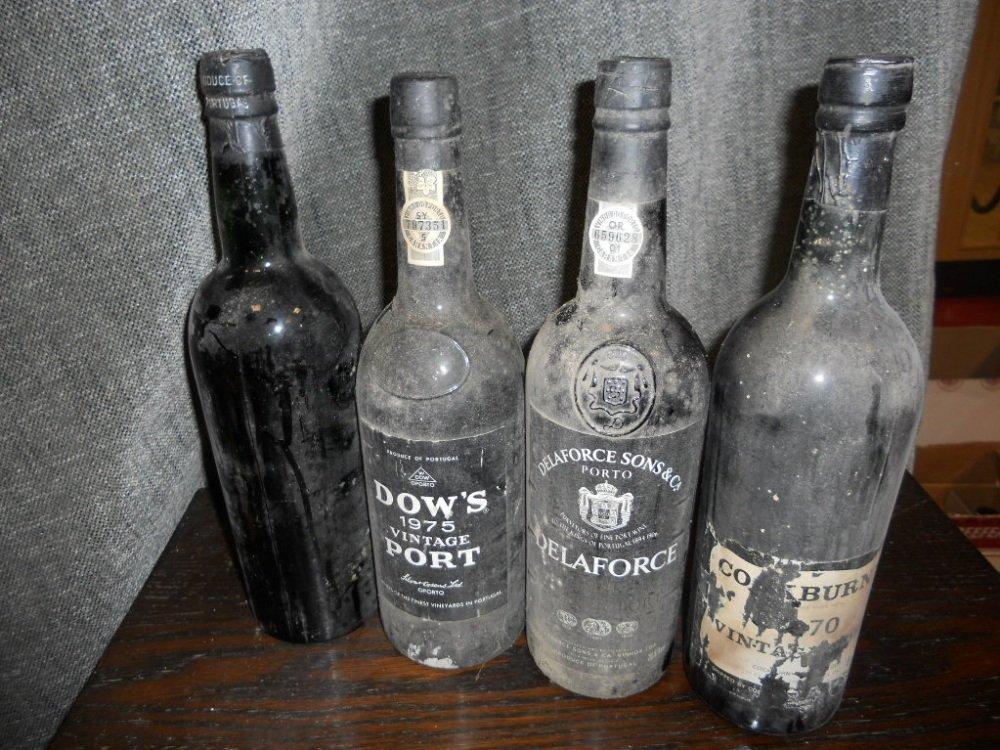 Vintage port, seven bottles. Quinta do Noval 1963, Dows