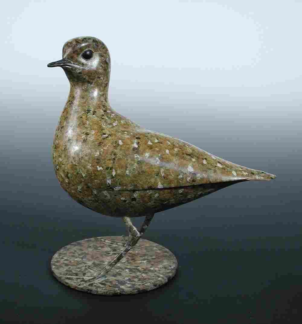 Geoffrey Dashwood (B. 1947), a bronze figure of a bird,