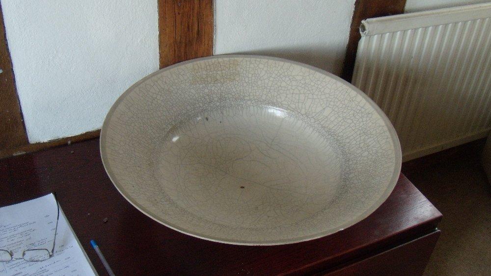 David Roberts, a crackleware dish,