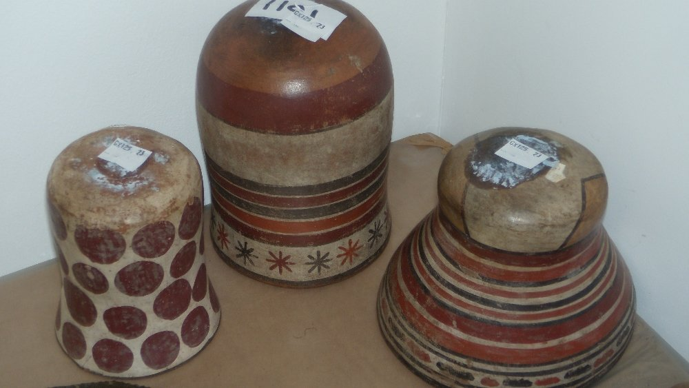 Three South American pottery wares,